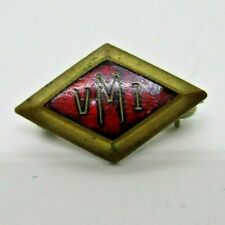 Vintage VMI  Virginia Military Institute  Diamond shape pin, Enamel 40's?