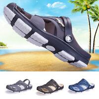 Summer Men's Casual Beach Sandals Hollow Flip Flops Slippers Flat Heel Shoes