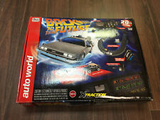 Auto World Back to the Future Slot Race Track with 4 cars *SOME MISSING PARTS*