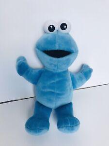 "Cookie Monster Soft Plush Floppy 12"" Stuffed Animal Blue Sesame Street 2002"