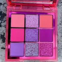 HUDA BEAUTY 💕9 color Obsessions Eyeshadow Palette new free shipping NEON PINK