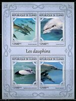 GUINEA 2017 DOLPHINS SHEET MINT NH