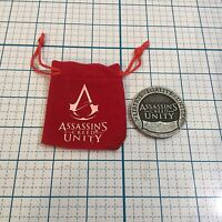 New ASSASSINS CREED Unity Coin - LOOTCRATE Exclusive - Comes With Velvet Pouch