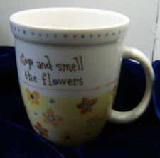 Stop and Smell the Flowers Mug / Fine Porcelain Mug by Natural Life