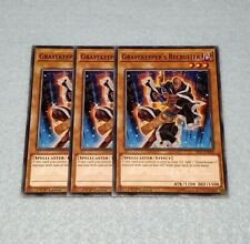 3x Yugioh Gravekeeper's Recruiter 1st Edition Card Playset NM Speed Dueling SS01