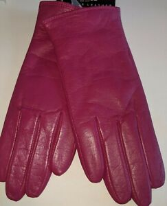 Fownes Warm Wool, Cashmere Blend Lined Gloves*. Fuchsia, Large