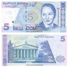 Kyrgyzstan 5 Som 1997 P-13 Banknotes UNC