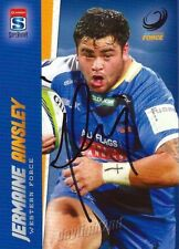 ✺Signed✺ 2017 WESTERN FORCE Rugby Union Card JERMAINE AINSLEY