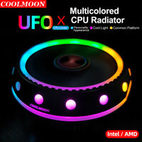 UFO RGB CPU Fan Cooler LED 100mm For Intel AMD PC Desktop Computer Radiator New