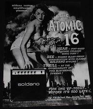 1997 Fifty Foot Woman Soldano Atomic 16 guitar amplifier print ad