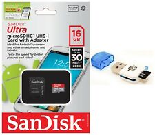 SanDisk 16GB Ultra Micro SD HC Class 10 Memory Card For Galaxy S9 S8 Note 4 Tab