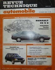 Revue technique RENAULT 25 V6 INJECTION TURBO LIMOUSINE RTA 498 1988 + 205
