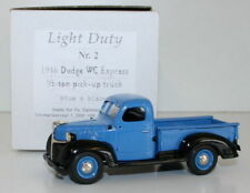 SMTS 1/43 LIGHT DUTY - 1946 DODGE WC EXPRESS 1/2 TON PICK UP TRUCK BLUE & BLACK