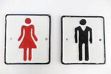 Targhette Toilette Set Donne Uomini Ghisa Nostalgia Oggetto D'antiquariato