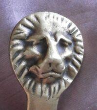 Ouvre lettres vintage en bronze à tête ou gueule de lion biface