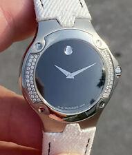 New Old Stock Movado Women's Sport Edition Diamond Bezel Watch Lizard