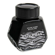 Waterman S0110710 Bottled Liquid Fountain Pen Ink - 50 Ml Intense Black