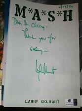 Original Autographed Personalized Stationary COA Larry Gelbert Mash 4077 author