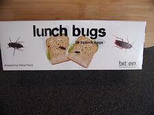 Lunch Bugs 24 Ziplock Bags.Joke Trick Prank.New  Boxed.Free post