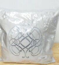 "Pratesi Bedding Orbite 20"" Square Embroidery Decorative Pillow Light Grey G5045"