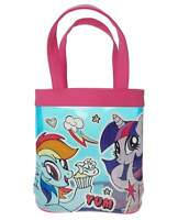 Girls My Little Pony PVC Tote Bag Pink and Blue Beach Holiday Swim Bag