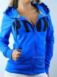 Victoria Secret PINK Perfect Full Zip Hoodie Fleece Logo Fitted Sweatshirt
