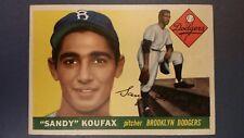Sandy Koufax Rookie 1955 #123 Topps Ungraded