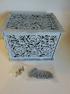 Wooden Card Box  with Lock Rustic Wedding Card Storage Box Gift Card Holder Box