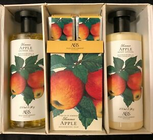 Asquith & Somerset 5 pc Gift Set Summer Apple Soap Lotion Bath Shower Collection