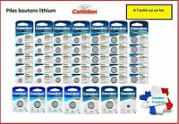 Piles / Cells boutons lithium 3V Camelion CR2032/2025/2016/1220/1225/1616/1620