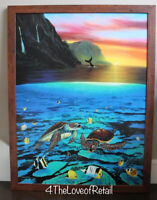 "Wyland ""Ancient Mariner"" Signed Canvas Limited Edition GICLEE COA turtles 33x43"