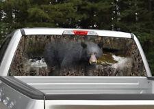 Black Bear Camo Hunting Rear Window Decal Graphic Truck SUV
