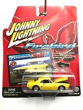 Johnny Lightning 1968 68 Pontiac Firebird 350 Car Yellow Die Cast 1/64 Scale