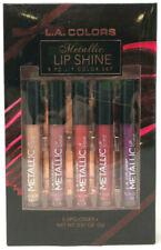 (10) Wholesale L.A. Colors Metallic Lip Shine 5 PC Lip Color Set NIB Gift Set