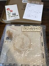 New You And Me Wooden Gift Box Wedding w/ Instructions 6 Sided Box 1 Lock 2 Keys