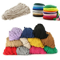 100Yards 5mm Colorful Twisted Cotton Rope Macrame String DIY Weaving Craft