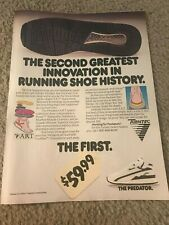 Vintage 1990s TURNTEC PREDATOR Running Shoes Poster Print Ad A.R.T. TECHNOLOGY
