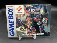 Contra The Alien Wars Gameboy Manual Only, 100% Original, Very Good