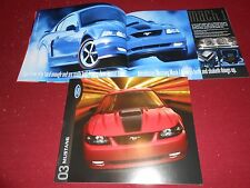 2003 FORD MUSTANG GT, MACH I, CONVERTIBLE, Etc. 18-p. BROCHURE, 03 SALES CATALOG