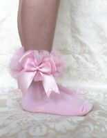 Spanish/Romany Tutu Ankle Socks Double Bow, Baby/Girl, Party, summer, gift