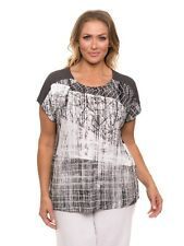 Yarra Trail Woman - shard print tee - size XL BNWT