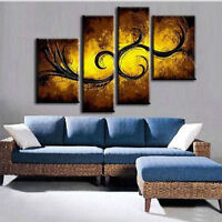 CHENPAT170 large 4pcs wall art hand-painted abstract oil painting art  on canvas