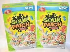2 BOXES POST SOUR PATCH KIDS FLAVORED CEREAL SOUR THEN SWEET 18 OZ EACH BOW