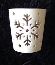 Yankee Candle Winter Christmas Festive Flurries Stems Snowflake Votive Holder