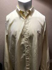 Ralph Lauren Polo Yellow Long Sleeve Button Front Shirt Men's 17.5 36/37