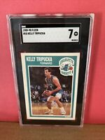 1989-90 Fleer Basketball Kelly Tripucka #18 SGC 7 NM Graded Card Hornets