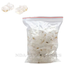 50 pcs RJ45 RJ-45 CAT6 Modular Plug Lan Network solid Connector bag of 50