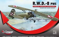 RWD 8 PWS - WW II POLISH TRAINER 1/48 MIRAGE RARE (pzl)