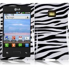 For Verizon LG Optimus Zone VS410 HARD Case Snap On Phone Cover Zebra