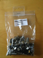 MGF / MG TF STAINLESS STEEL BOLT PACK 4 - UNDER CAR FLOOR PAN BOLTS - MG SPARES